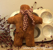 Grubby Gingerbread Man Pattern & E-Pattern
