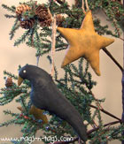Primitive Crow & Mustard Star Ornament Pattern & E-Pattern