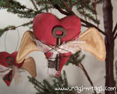 Primitive Valentine Heart Ornament Pattern & E-Pattern